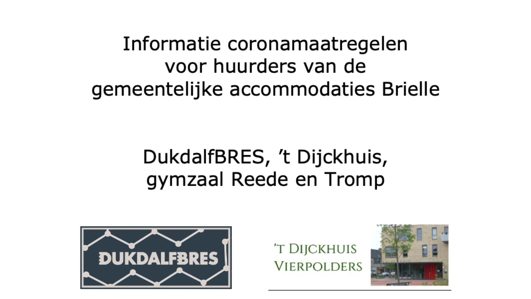 Corona maatregelen 't Dijckhuis