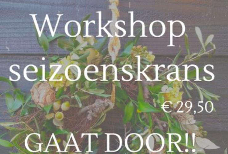 Extra avond workshop Seizoenskrans